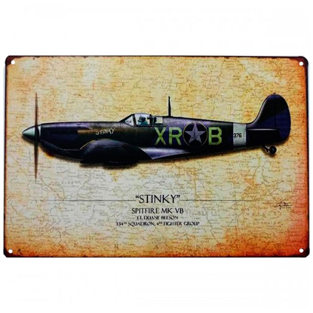placa-decorativa-de-metal-stink-spitfire-mk-vb-01