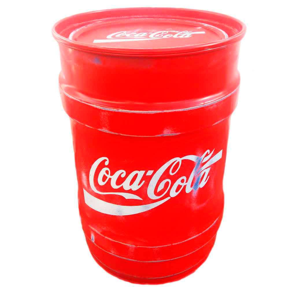 Tambor-Decorativo-Pequeno-Coca-Cola-Vermelho