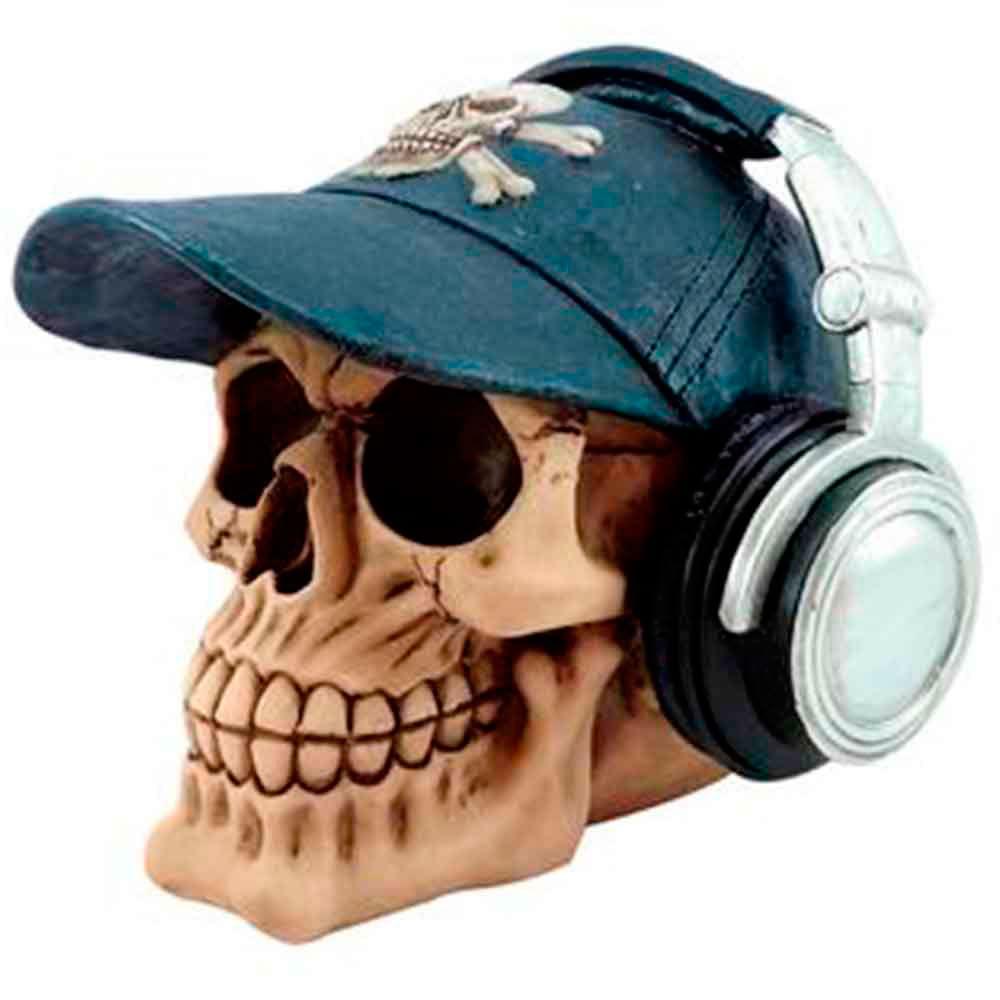 Caveira-Pirata-Decorativo-Com-Fone-De-Ouvido