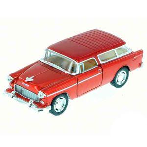 Miniatura-1955-Chevy-Bel-Air-Nomad-Escala-1-40-Vinho
