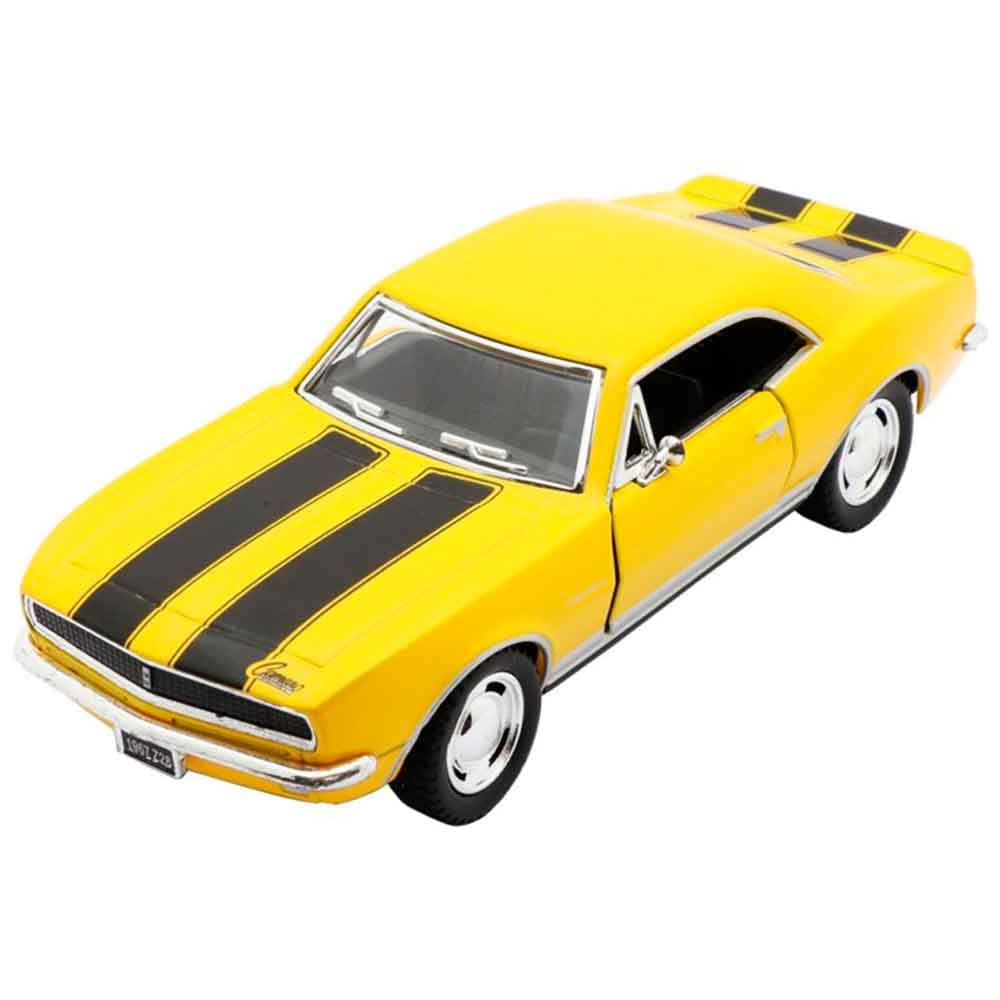 Miniatura-1967-Chevrolet-Camaro-Escala-1-37-Amarelo-E-Preto