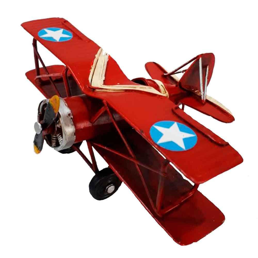 Miniatura-Aviao-Estrela-Vermelho