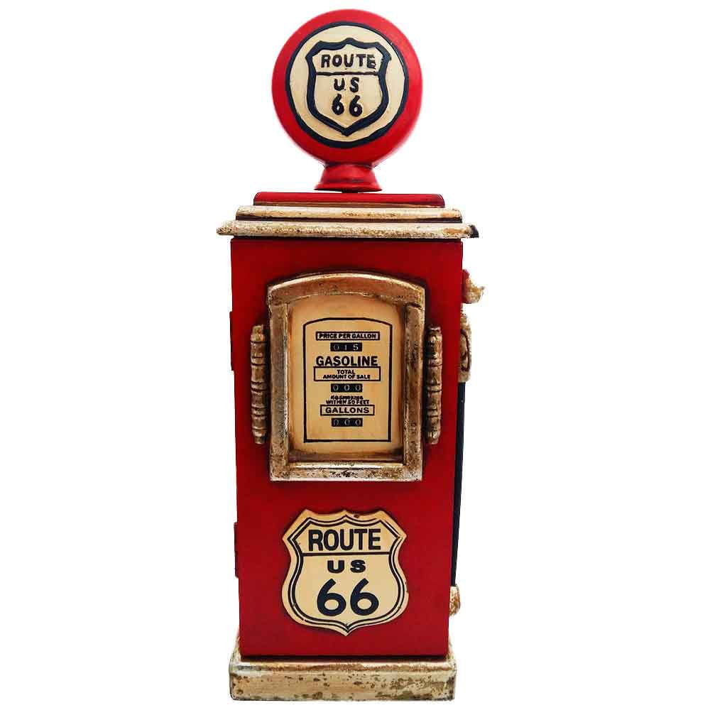 Porta-Chaves-Bomba-de-Gasolina-Rota-66-Vermelho-----------------------------------------------------
