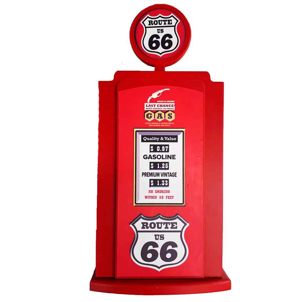 Porta-Chaves-Bomba-De-Combustivel-Vermellha-Rota-66
