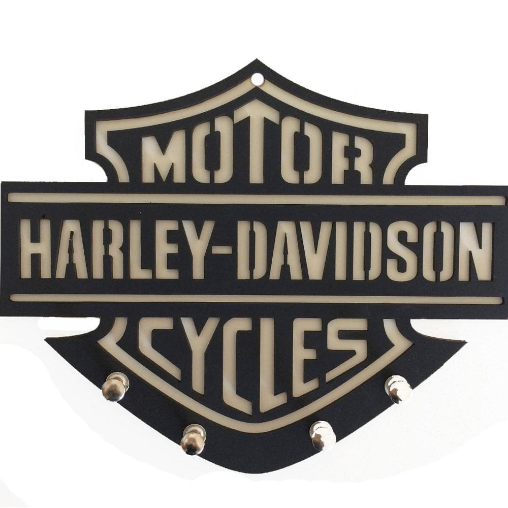 Porta-Chaves-Mdf-Harley-Davidson-Branco