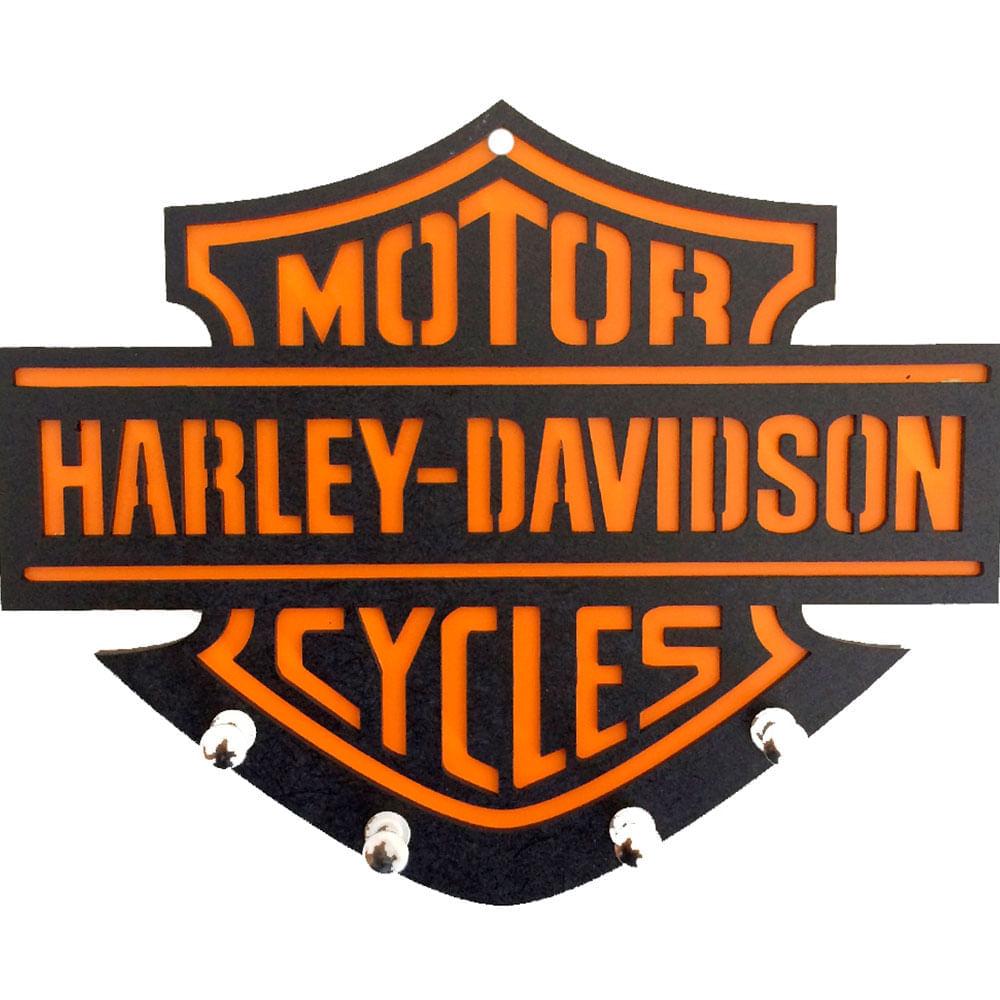Porta-Chaves-Mdf-Harley-Davidson-Laranja