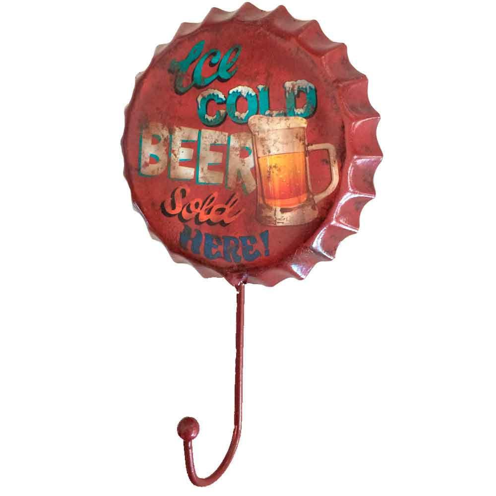 Gancho-De-Parede-Ice-Cold-Beer-Sold-Here-Vermelho