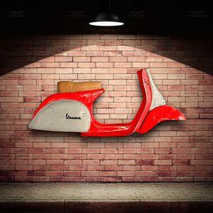 Lateral-Vespa-Mods-Vermelho---Caixa-Traseira-Creme