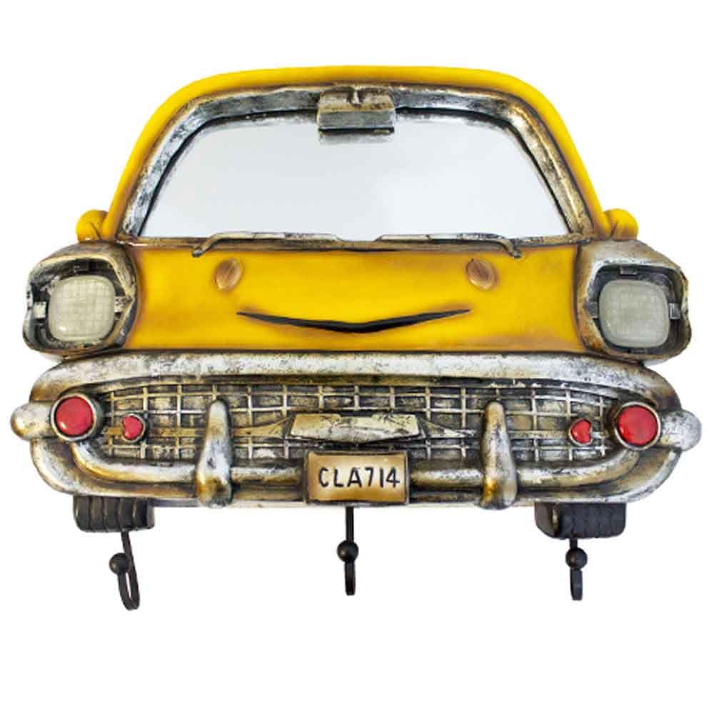 Espelho-Com-Ganchos-Bel-Air-Chevrolet-Amarelo-1953-Oldway