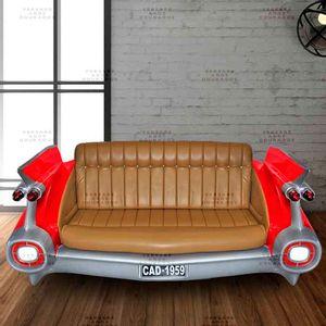 Sofa-Cadillac-Muscle-Car-Vermelho---Estofado-Caramelo