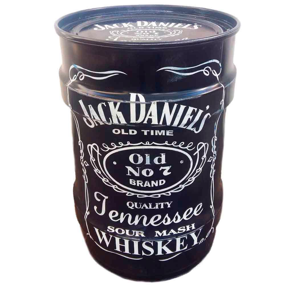 Tambor-Decorativo-Pequeno-Jack-Daniels-Preto