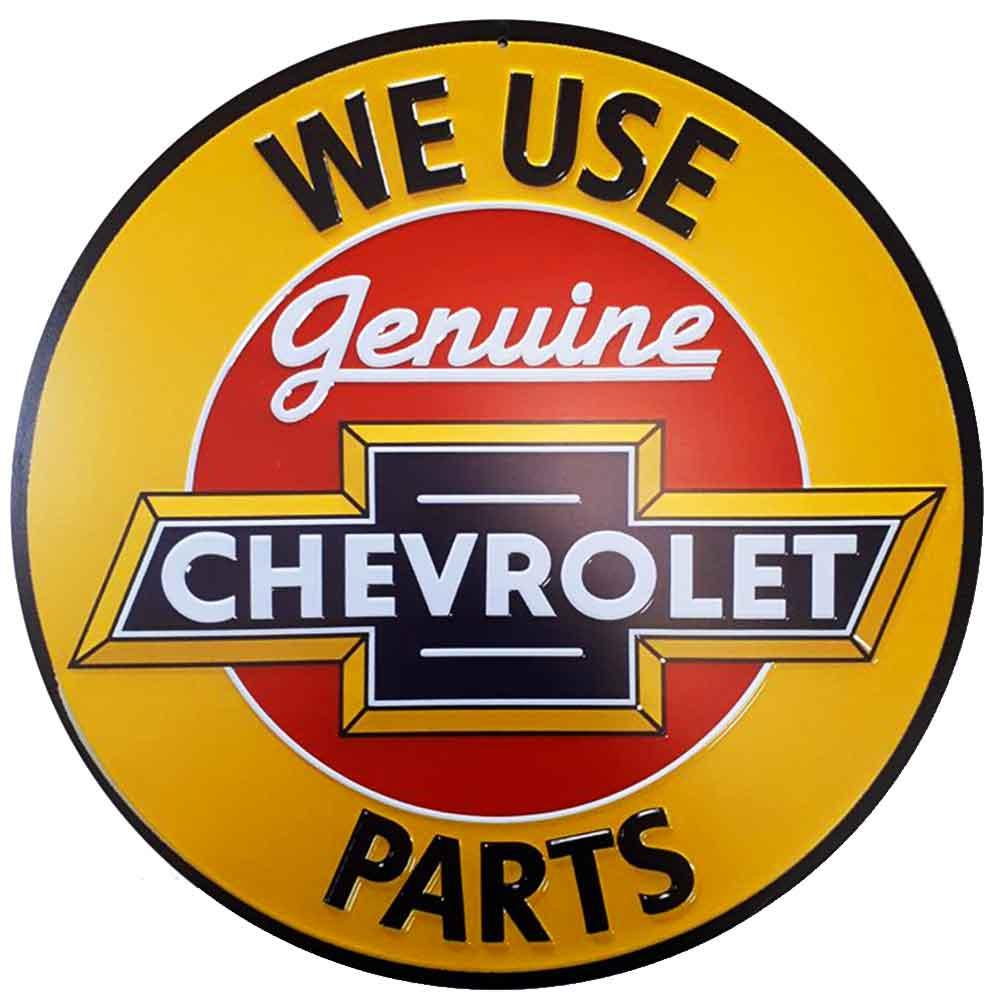 Placa-Decorativa-Mdf-Chevrolet-Genuine-Parts