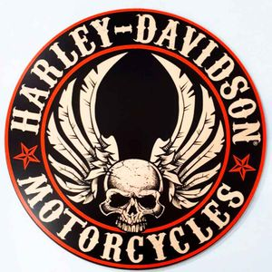 Placa-Decorativa-Mdf-Harley-Davidson-Motorcycle
