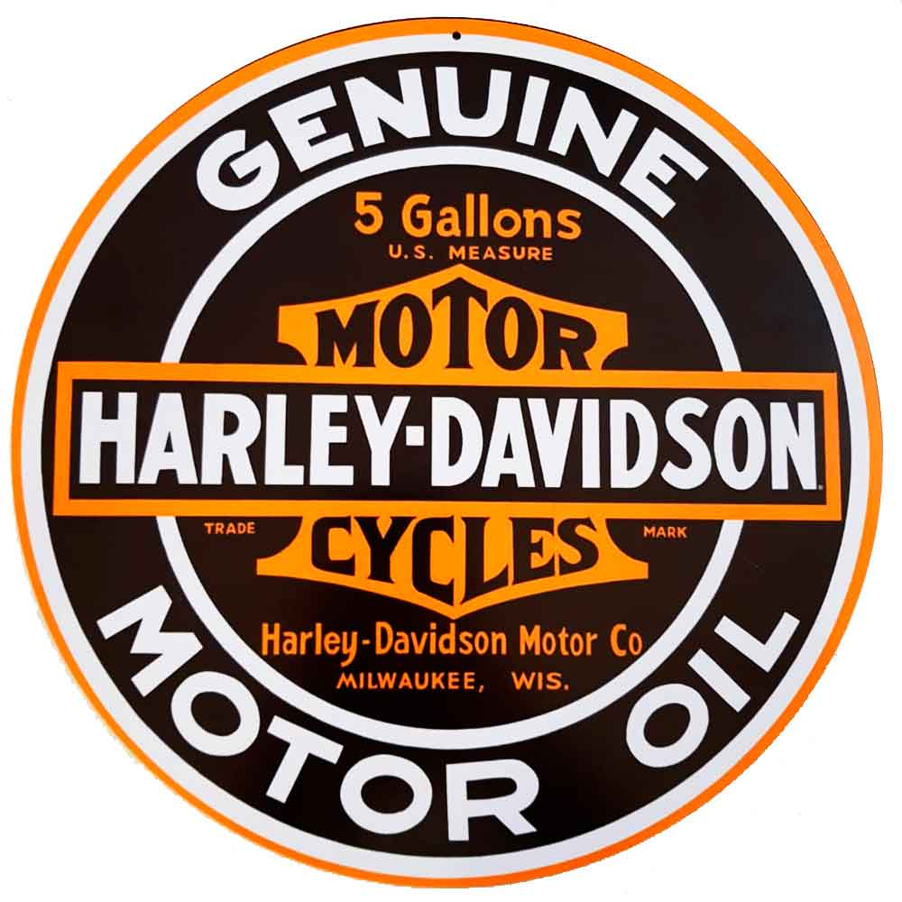 Placa-Decorativa-Mdf-Harley-Davidson-Genuine-Preta---Unica