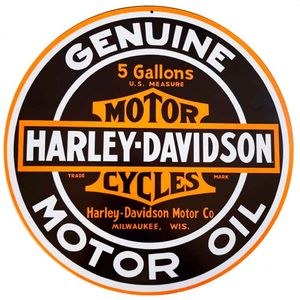 Placa-Decorativa-Mdf-Harley-Davidson-Genuine-Preta---Unica
