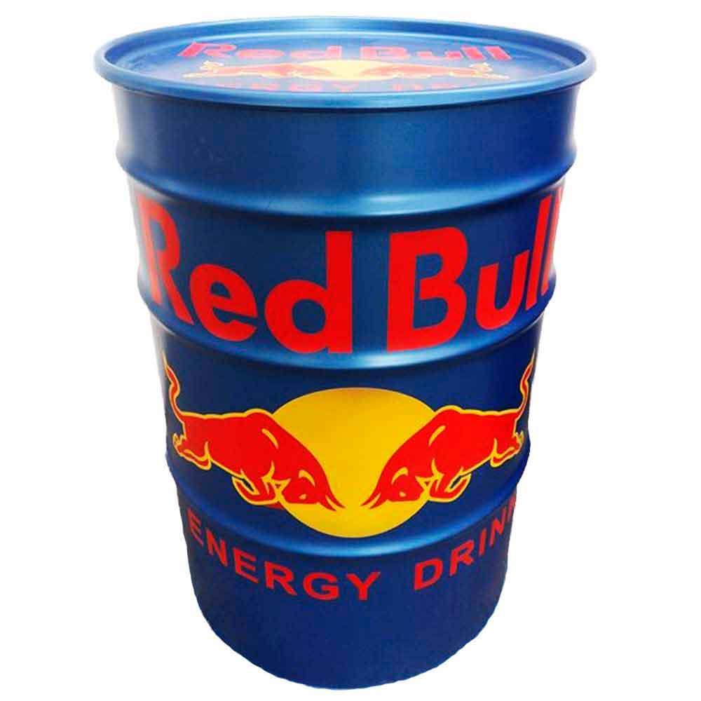 Tambor-Decorativo-Red-Bull-Azul-Vintage-Industrial