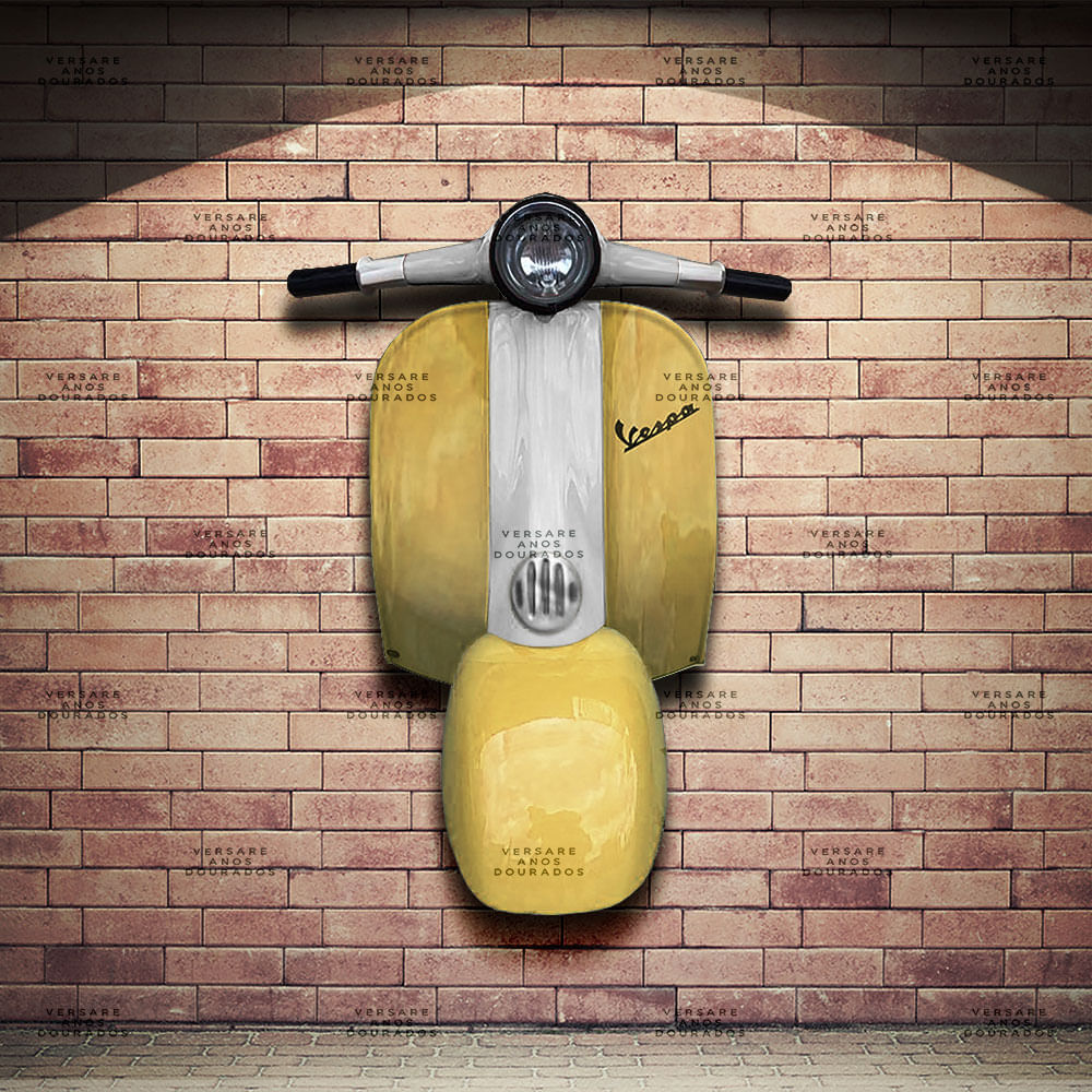 Frente-Vespa-Buzzer-Amarelo---Caixa-Traseira-Creme