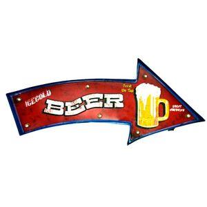 Placa-Led-Retro-Seta-Beer---------------------------------------------------------------------------