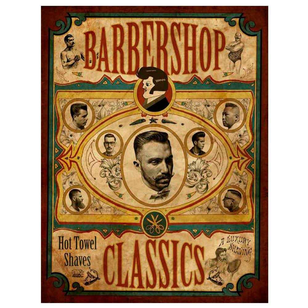 PLACA-DECORATIVA-PARA-BARBEARIAS-HAIR-STYLE-BARBERSHOP-CLASSICS-------------------------------------