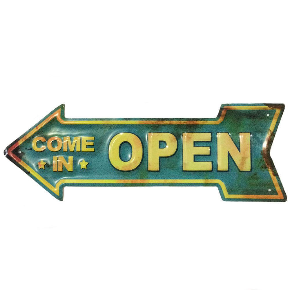placa-seta-de-metal-open-cod-417501
