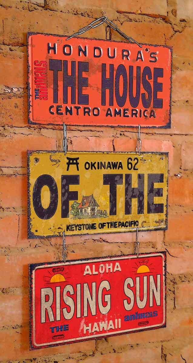 Jogo-De-Placas-Decorativas-Com-Corrente--the-House--Laranja---Unica