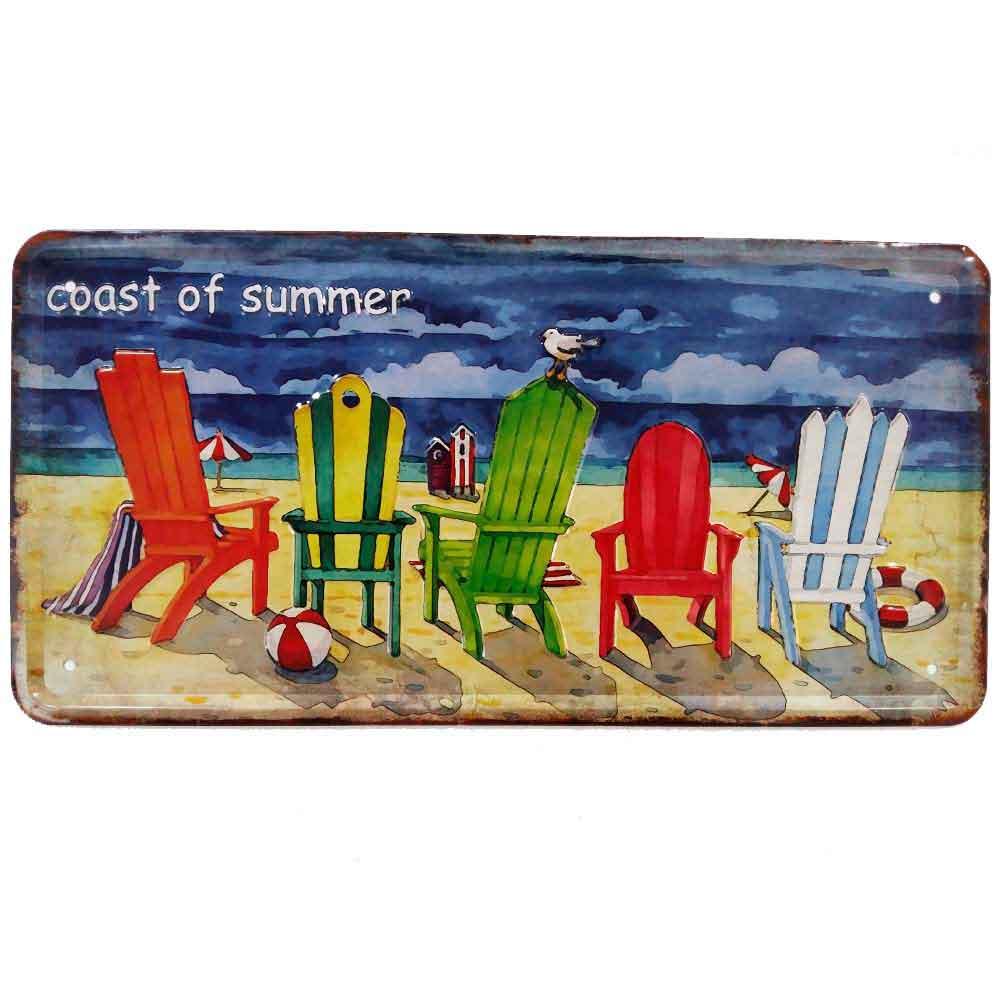 Placa-De-Carro-Decorativa-Em-Alto-Relevo-Coast-Of-Summer