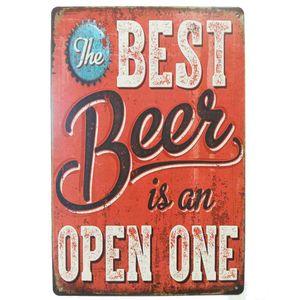 Placa-De-Metal-Decorativa-Best-Beer-Is-An-Open-One
