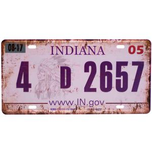 Placa-De-Carro-Decorativa-Em-Alto-Relevo-Indiana