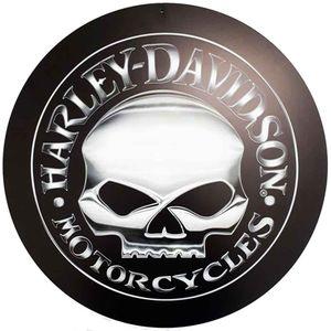 Placa-Decorativa-Mdf-Harley-Davidson-Skull