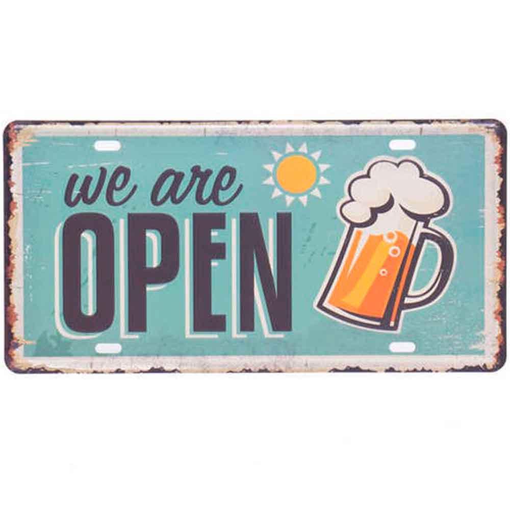Placa-De-Metal-Decorativa-We-Are-Open