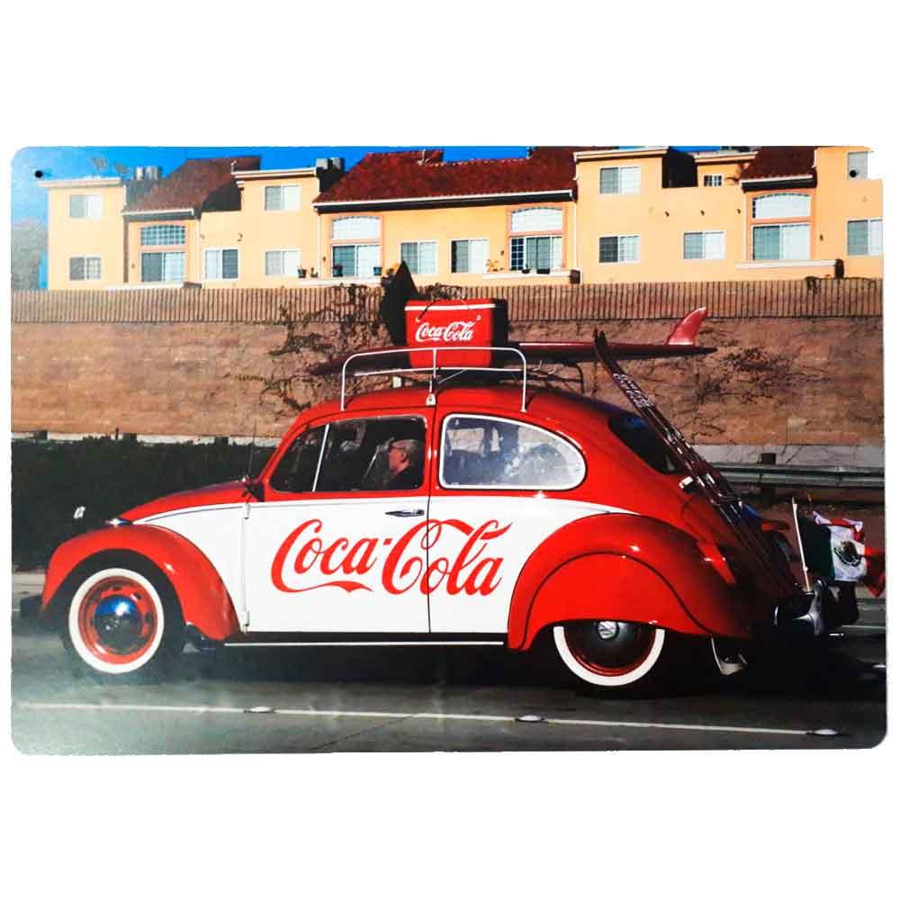 Placa-Decorativa-Mdf-Fusca-Coca-Cola