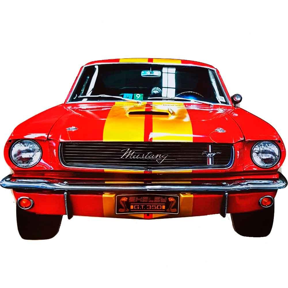 Placa-Decorativa-Mdf-Mustang-Recorte-Pequeno-Laranja---Unica