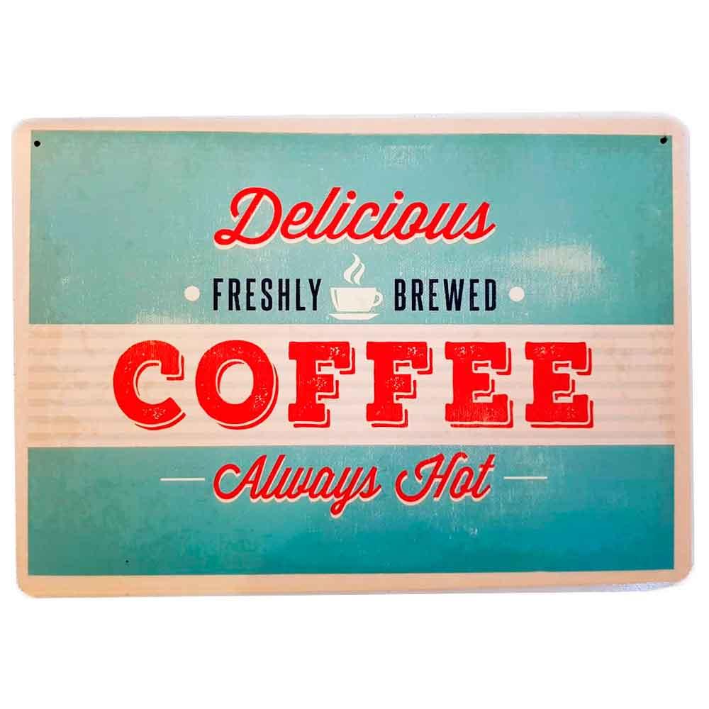 Placa-Decorativa-Mdf-Delicious-Coffee-Azul---Unica