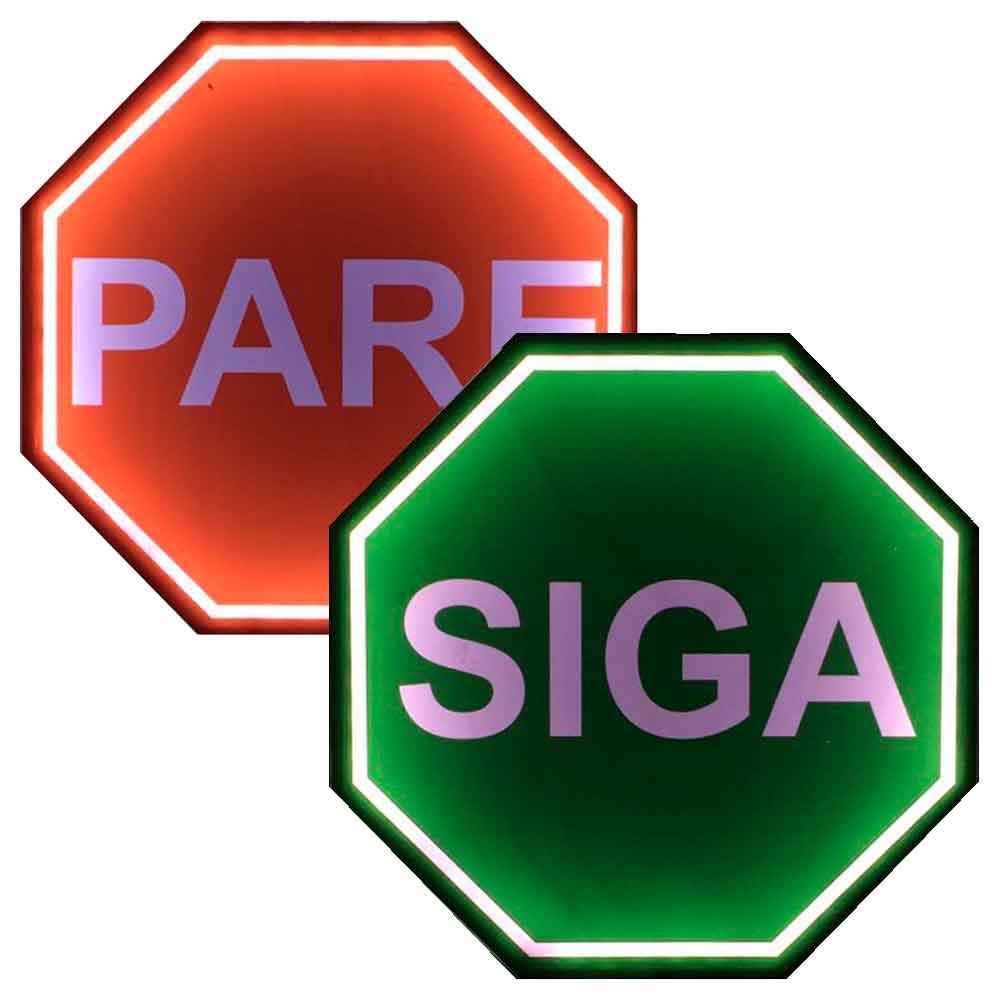 Placa-Decorativa-Mdf-Com-Led-Siga-Pare-Verde---Unica