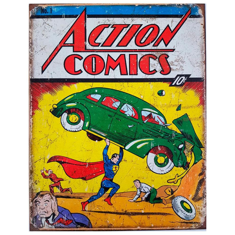Placa-De-Metal-Super-Homem