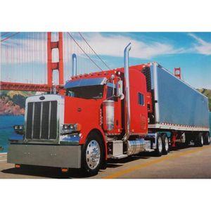 Quadro-Tela-Caminhao-Truck-Vermelho
