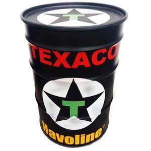 Tambor-Decorativo-Texaco-Preto-Vintage-Industrial