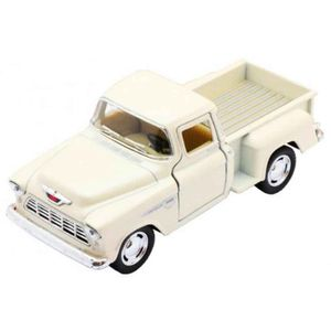 Miniatura-1955-Chevy-Stepside-Pick-up-Escala-1-32-Branco