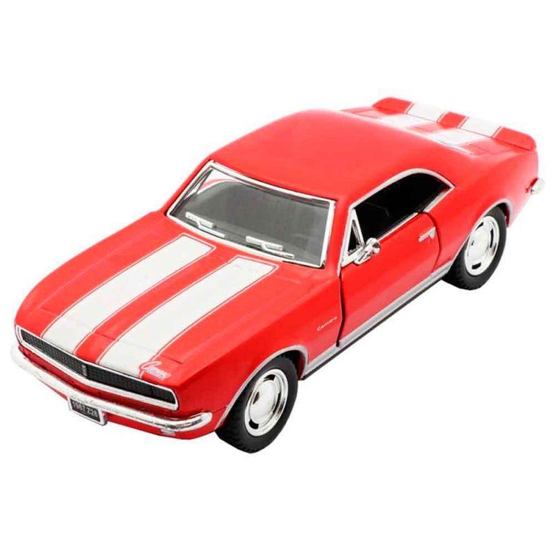 Miniatura-1967-Chevrolet-Camaro-Escala-1-37-Vermelho-E-Branco
