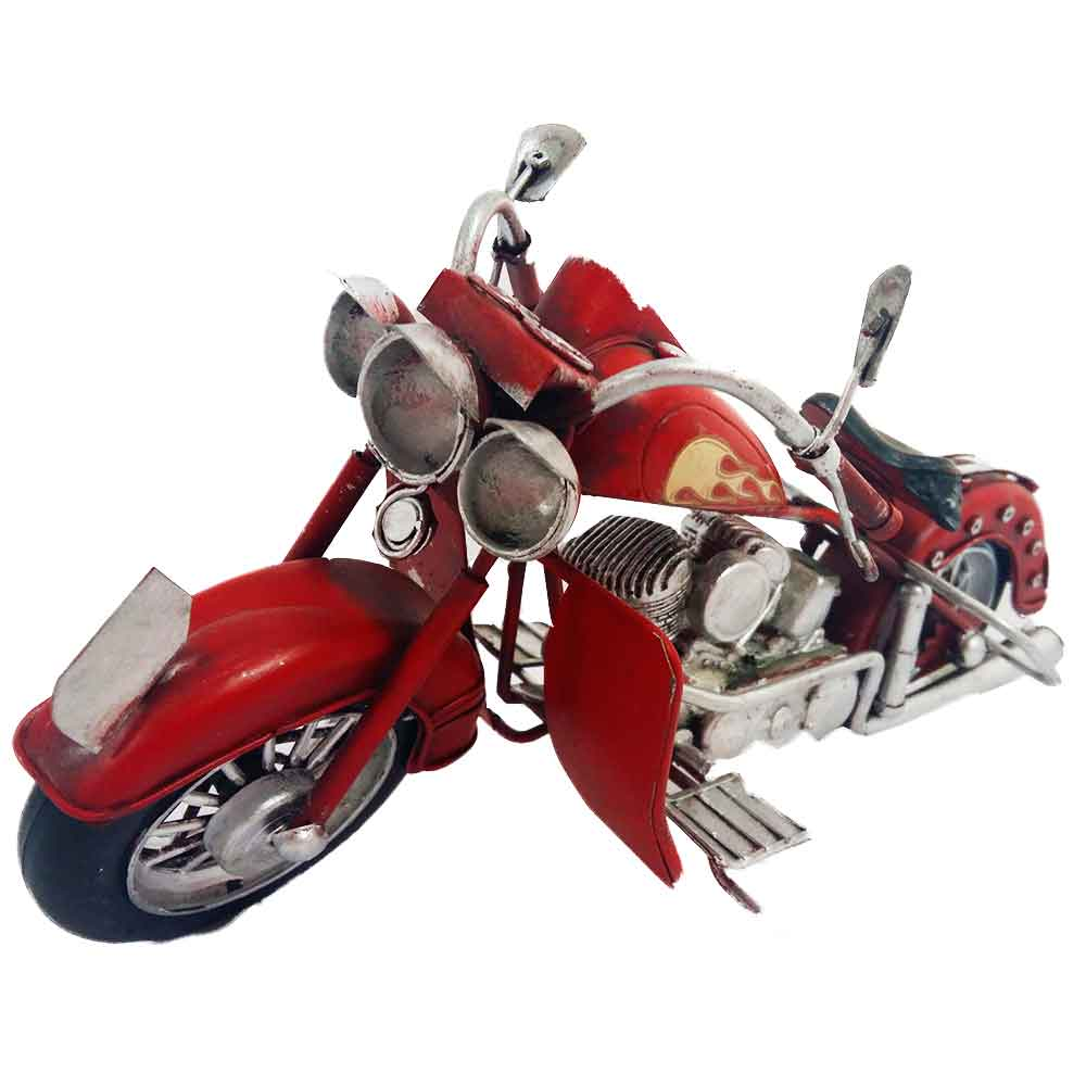 Miniatura-Motocicleta-Harley-Style-Vermelha---------------------------------------------------------