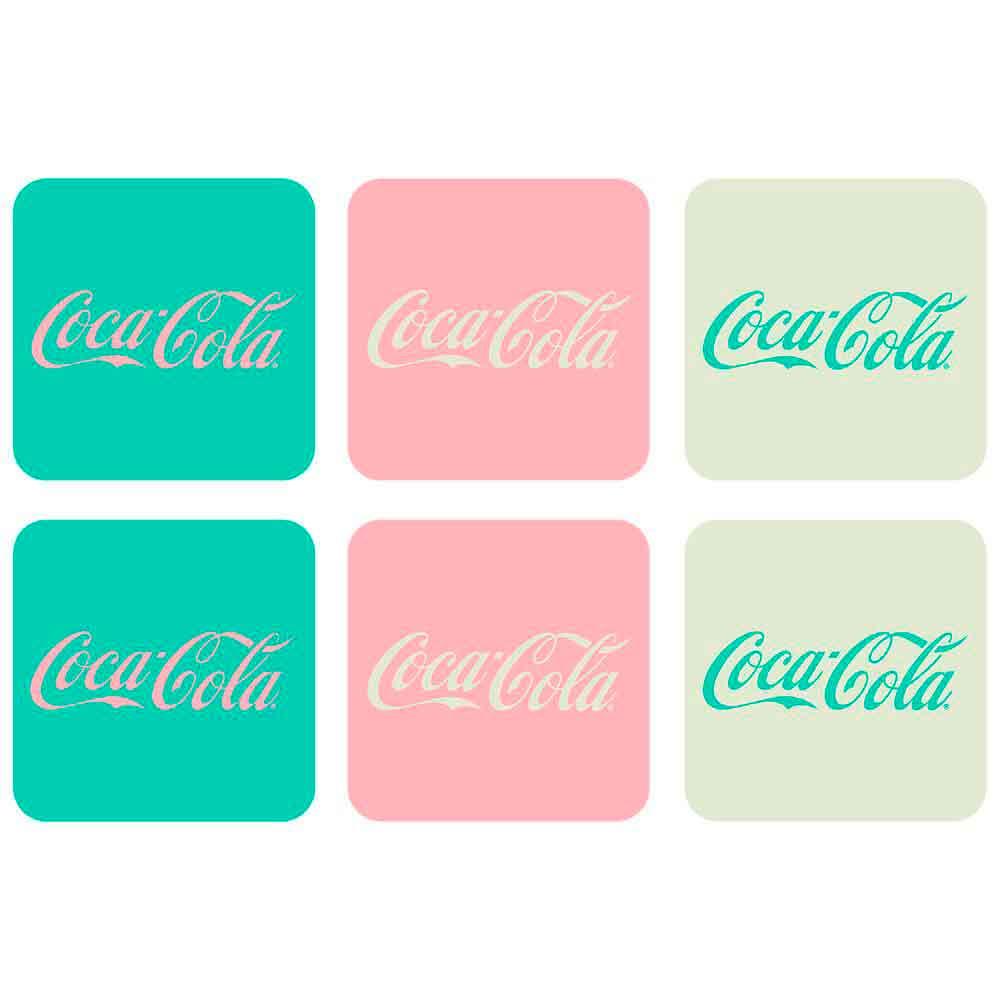 Porta-Copos-6-Pecas-Candy-Colors-Coca-Cola-Retro