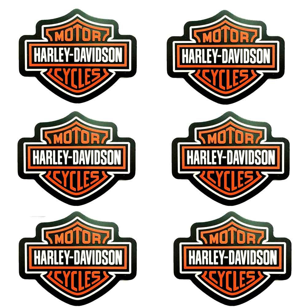 Kit-6-Porta-Copos-Emborrachados-Harley-Davidson