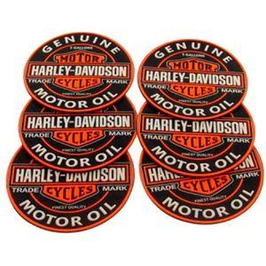 Kit-6-Porta-Copos-Emborrachados-Harley-Motor-Oil