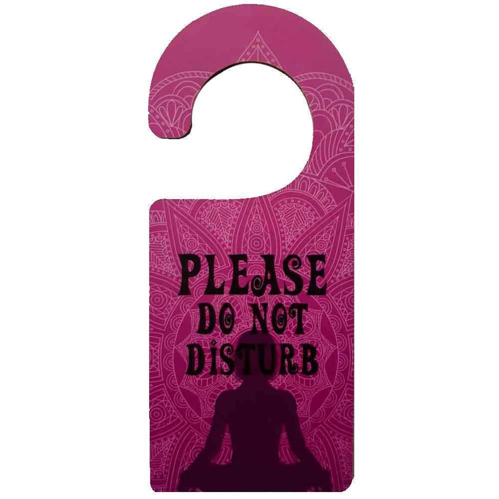 Aviso-De-Porta-Mdf-Please-Do-Not-Disturb-Roxo