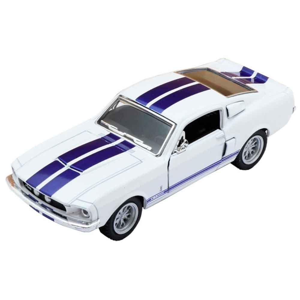 Miniatura-1967-Shelby-Gt-500-Escala-1-38-Branco-E-Azul
