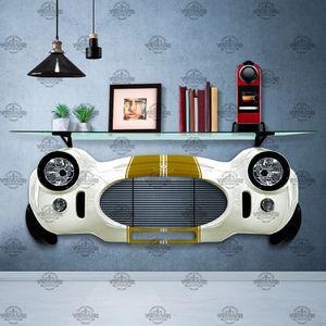 Prateleira-Shelby-Cobra-1966-branco-com-faixa-dourada-foto-1